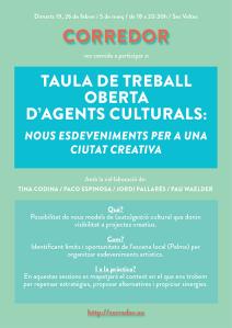 TAULA OBERTA AGENTS CULTURALS__CORREDOR